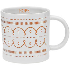 Red Ecology Tidings Hope 350ml Stoneware Mug