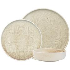 12 Piece Linen Ecology Siena Porcelain Dinner Set