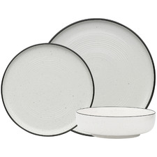 12 Piece White Ecology Provence Porcelain Dinner Set