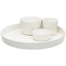 4 Piece White Ecology Origin Entertaining Porcelain Serving Set
