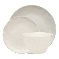 18 Piece White Ecology Replay Recycled Stoneware Dinner Set