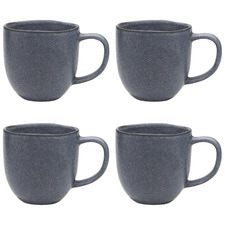 Denim Ecology Dwell 340ml Stoneware Mugs (Set of 4)