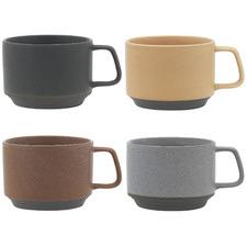 4 Piece Ecology Stack 360ml Porcelain Mugs