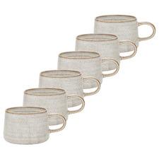Barley Ecology Ottawa 365ml Stoneware Mugs (Set of 6)
