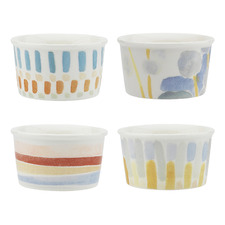 4 Piece Ecology Abstract 175ml New Bone China Ice Cream Cups Set