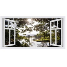 Bellingen Window Stretched Canvas