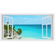 Eastern Island Window Stretched Canvas