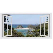 The Pass Window Stretched Canvas