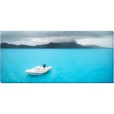 Grey Bora Bora Day Canvas Wall Art