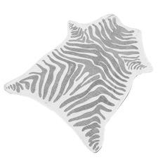 Grey Zebra Jungle Faux Hide Towel