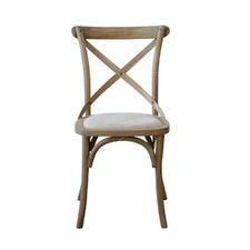 Kasan Side Chair Oatmeal Linen Seat