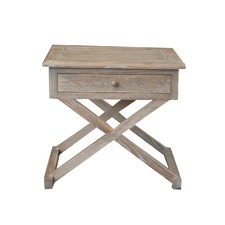 Drake Side Table Burnt Oak