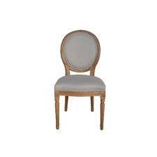 French Round Fabric Side Chair