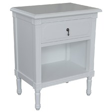 White Dover Bedside Table