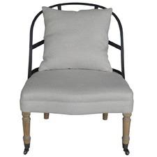 Moss Occasional Chair Oatmeal Linen