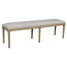 Weathered Oak Tallulah Linen Bench