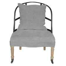 Moss Occasional Chair Stone Washed Linen