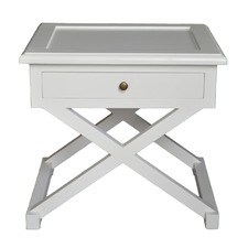 Levi Side Table White