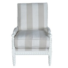 Bobbin Armchair White