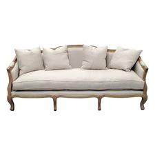 Linen European 3 Seater Sofa