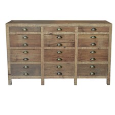 Printmakers Recycled Pine Wood Buffet