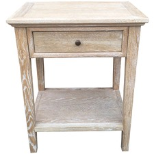 White Ashiya Oak Side Table
