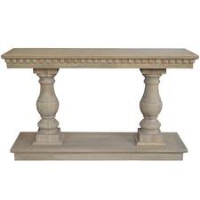 Balustrade Oak Console Table