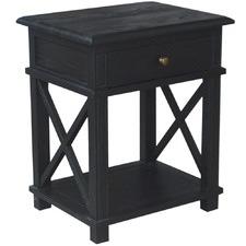 X-Brace Oak Side Table