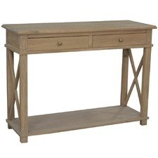 Anna Console Weathered Oak Small