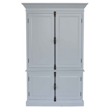 French Panel Cabinet White