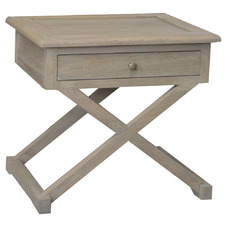 Levi Oak Wood Side Table