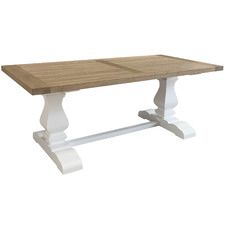 Weathered Oak Montreal Wooden Dining Table
