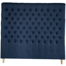 Navy Chesterfield Linen Headboard