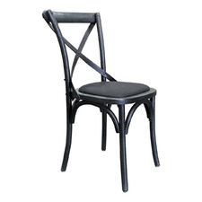 Black Kasan Wooden Dining Chair