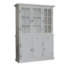 White Hampton Display Cabinet