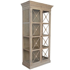 Light Timber Provincial Display Cabinet