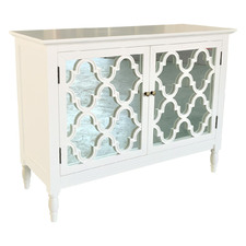 White Claire 2 Door Birch Wood Buffet Table