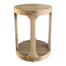 Round Frisk Oak Wood Side Table