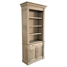 Paris 4 Tier Oak Wood Bookcase