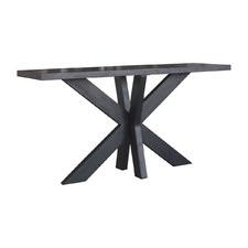 Black Paris Oak Wood Console Table