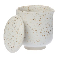 White Amity Ceramic Speckle Jug & Lid