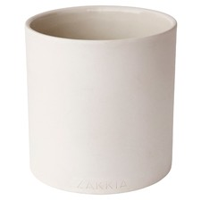 White Genko Cylinder Ceramic Pot