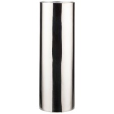 Silver Juris Polished Metal Cylinder Vase