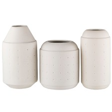 3 Piece Darla Poke Ceramic Vase Set