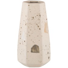 Straight Confetti Carved Ceramic Vase