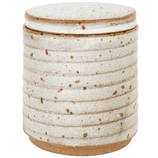 Seagrass Amity Speckle Ceramic Canister & Lid