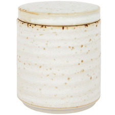 Snow Amity Speckle Ceramic Canister & Lid