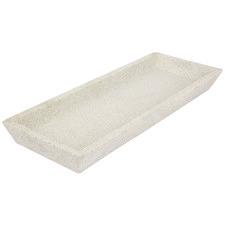 White Rectangular Concrete Decorative Tray