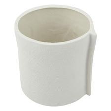 Burlap Ceramic Planter