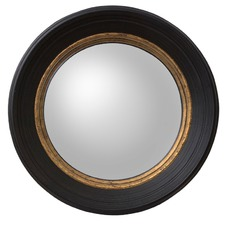 Small Black London Convex Mirror
